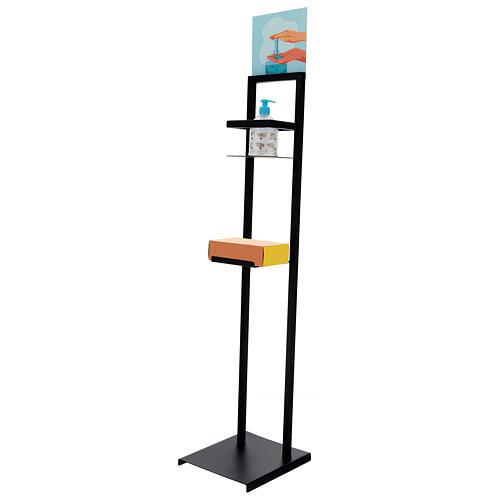Hand sanitizer dispenser stand in iron 4