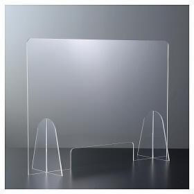 Plexiglas-Schutzwand 90x150 cm mit Serviceöffnung 20x40 cm s1