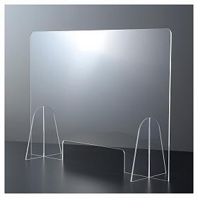 Plexiglas-Schutzwand 90x150 cm mit Serviceöffnung 20x40 cm s2