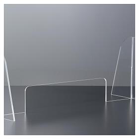 Plexiglas-Schutzwand 90x150 cm mit Serviceöffnung 20x40 cm s3