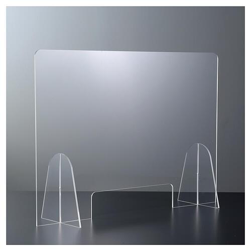 Plexiglas-Schutzwand 90x150 cm mit Serviceöffnung 20x40 cm 1