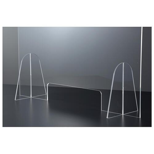 Plexiglas-Schutzwand 90x150 cm mit Serviceöffnung 20x40 cm 4