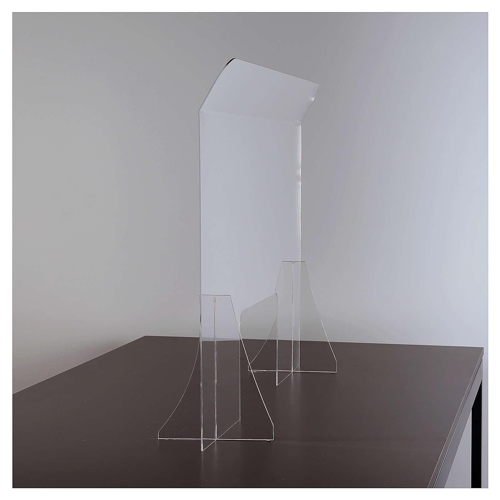 Lámina anti-aliento plexiglás 98x100 ventana 20x40 3