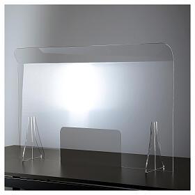 Lámina anti-aliento plexiglás 98x100 ventana 20x40 s1