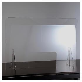 Lámina anti-aliento plexiglás 98x100 ventana 20x40 s2