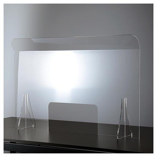 Lámina anti-aliento plexiglás 98x100 ventana 20x40 1