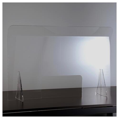 Lámina anti-aliento plexiglás 98x100 ventana 20x40 2