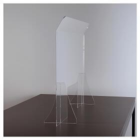 Lastra parafiato plexiglass 98x100 finestra 20x40 s3