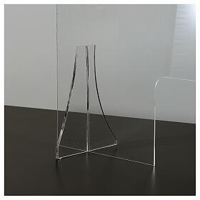 Lastra parafiato plexiglass 98x100 finestra 20x40 s4