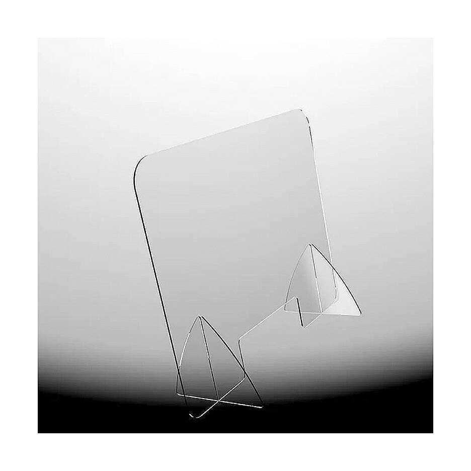 Clear acyrlic plexiglass shield 65x95 cm, cutout 20x40 cm 3