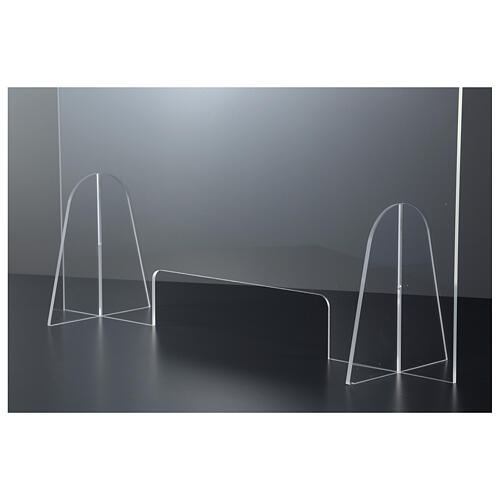 Dispositif distanciation sociale plexiglas 50x70 cm fente 15x30 cm 4