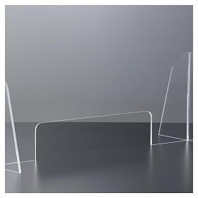 Barreira de proteção anti-contágio de mesa acrílico 50x70 cm com abertura 15x30 cm s3