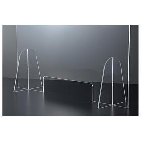 Barreira de proteção anti-contágio de mesa acrílico 50x70 cm com abertura 15x30 cm s4