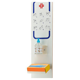 Dispenser column for anti contagion sanitising gel s4