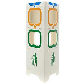 Borne distributeur de gel désinfectant gants et déchets s1