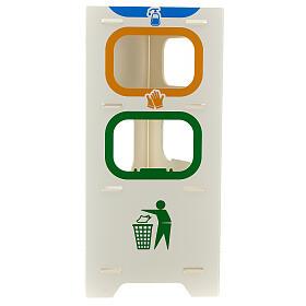 Borne distributeur de gel désinfectant gants et déchets s5
