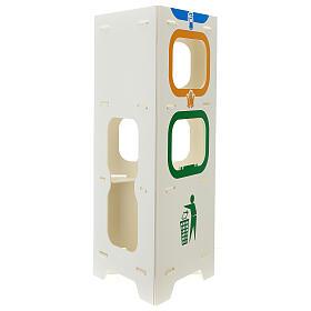 Totem porta dispenser gel igienizzante guanti e rifiuti s4
