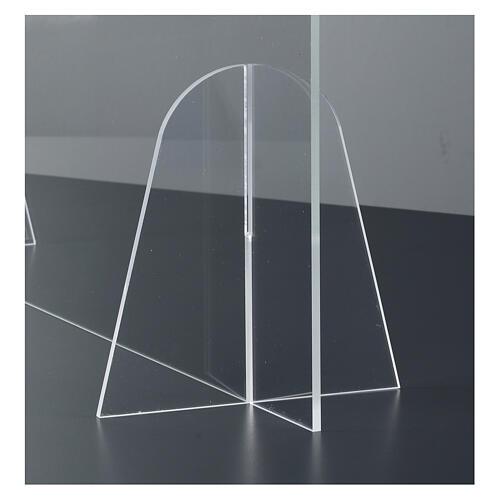 Przegroda ochronna na stół design Goccia z pleksiglasu h 50x70 4