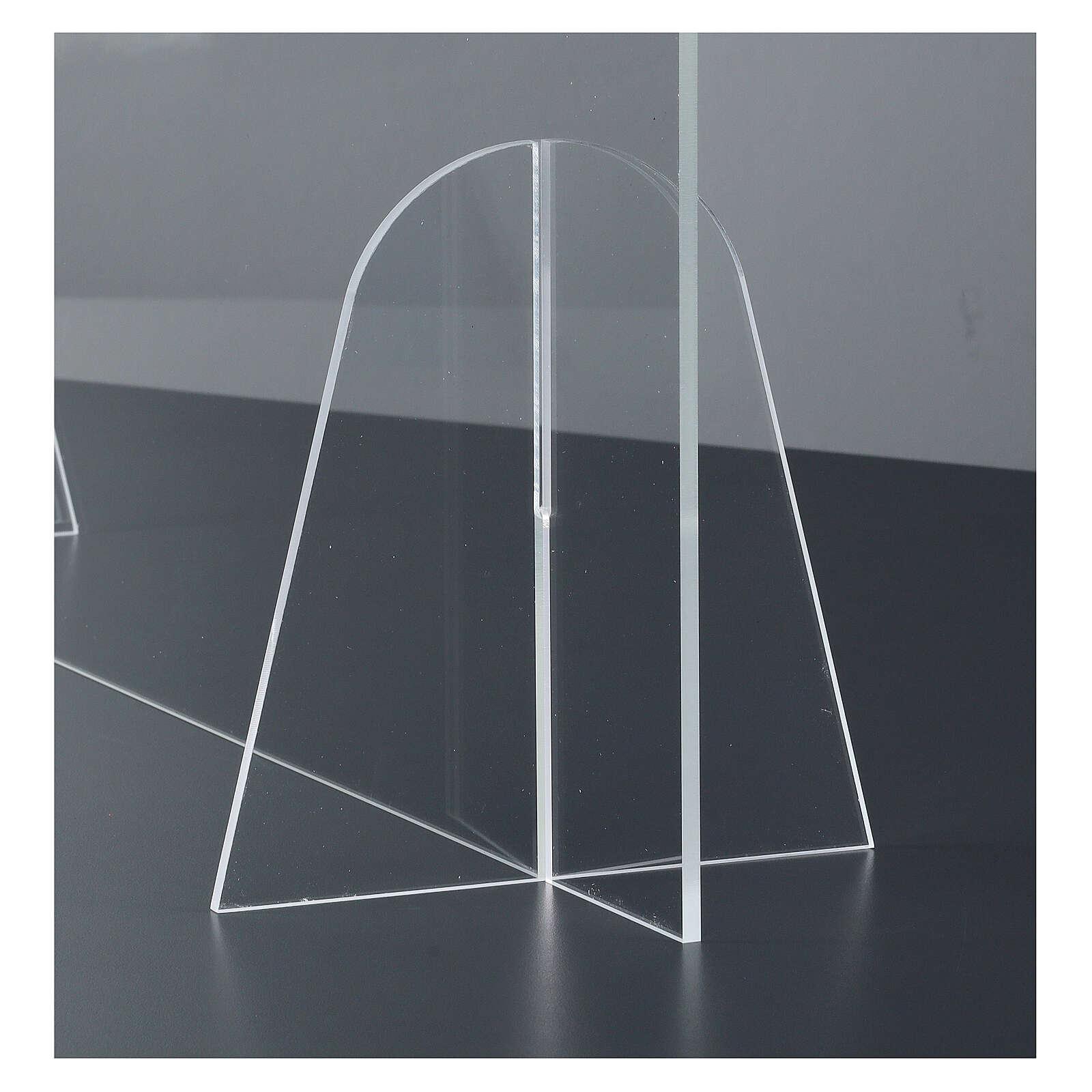 Barreira de proteção anti-contágio de mesa Design Gota acrílico 50x70 cm 3