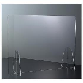 Barreira de proteção anti-contágio de mesa Design Gota acrílico 50x70 cm s2