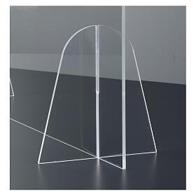 Barreira de proteção anti-contágio de mesa Design Gota acrílico 50x70 cm s4