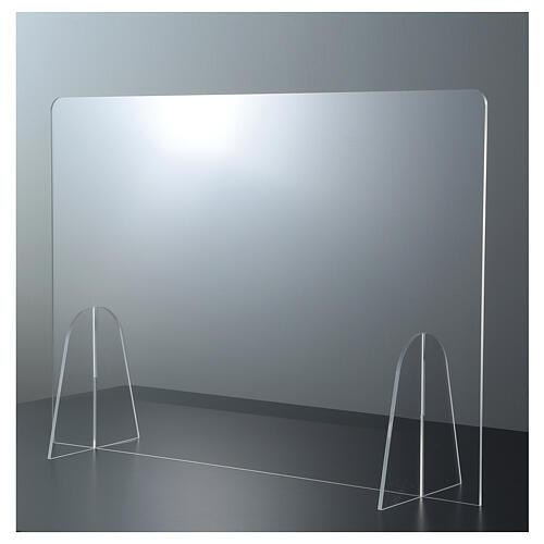 Barreira de proteção anti-contágio de mesa Design Gota acrílico 50x70 cm 1