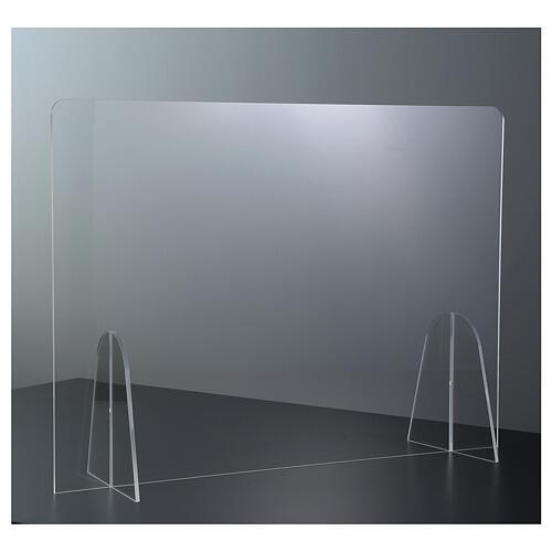 Barreira de proteção anti-contágio de mesa Design Gota acrílico 50x70 cm 2