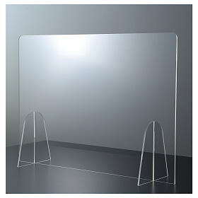Table plexiglass shield h 50x70 cm s1