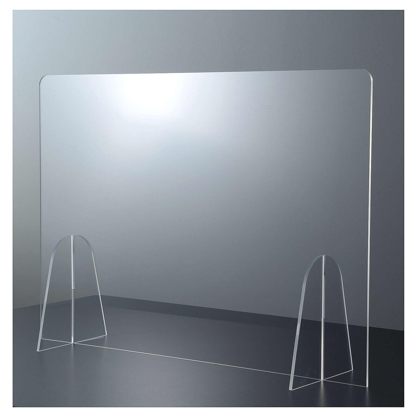 Pannello parafiato Tavolo plexiglass - Goccia h 50x90 3
