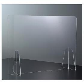 Pannello parafiato Tavolo plexiglass - Goccia h 50x90 s2