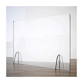 Barreira de proteção anti-contágio de mesa Design Gota acrílico 50x90 cm s1