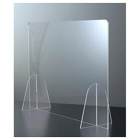 Plexiglass shield for tables counters- Goccia h 50x90 cm s3