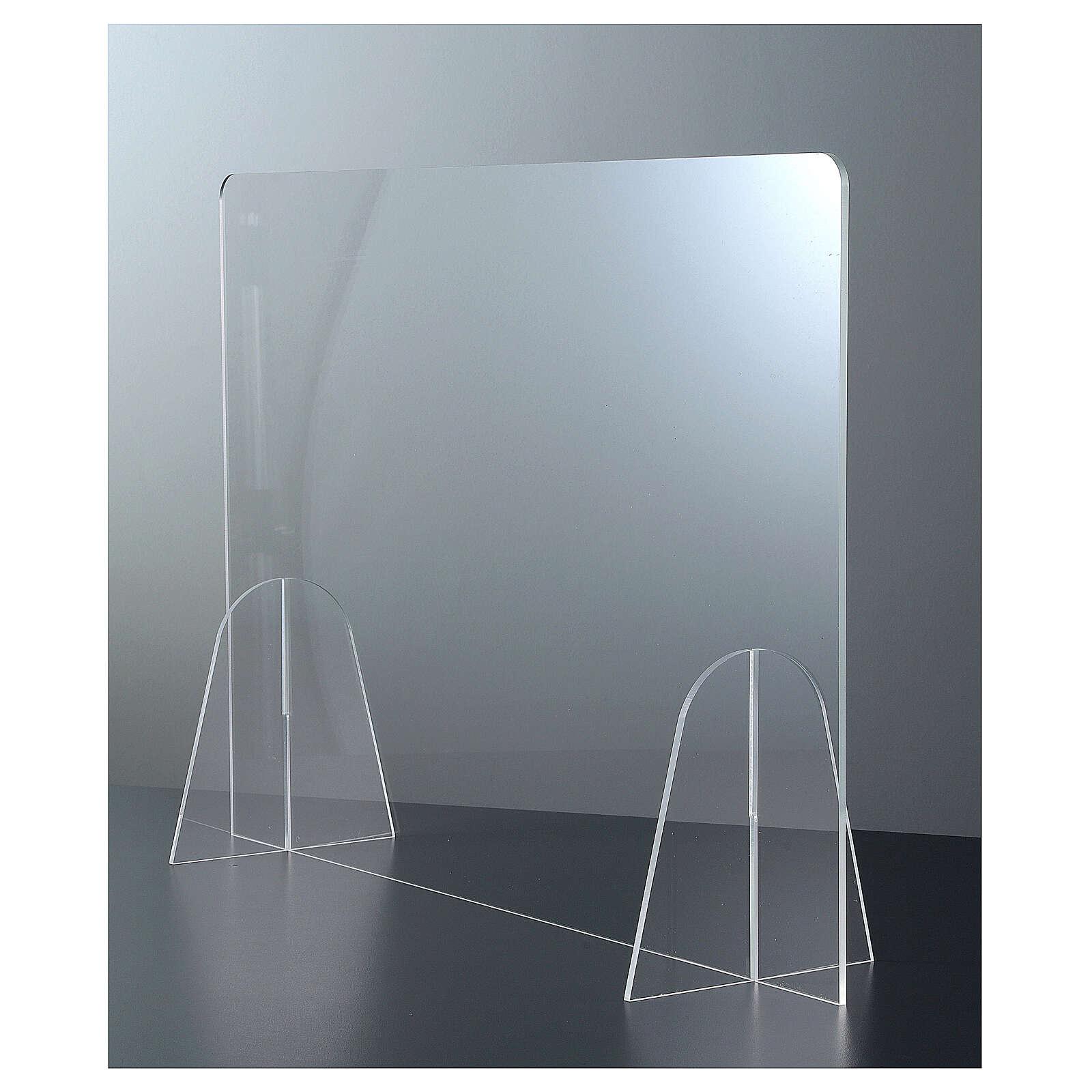Barrière de protection pour table Design Goutte plexiglas h 50x140 cm 3