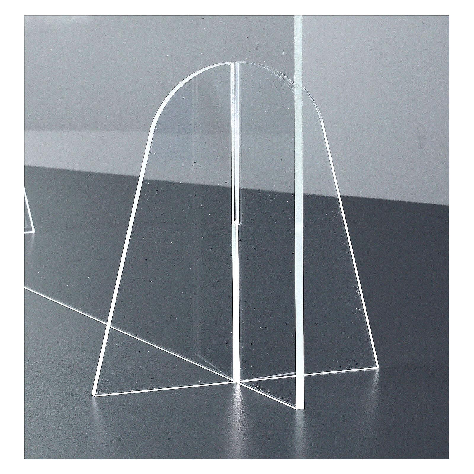 Ekran ochronny na stół design Goccia pleksiglas h 50x140 3