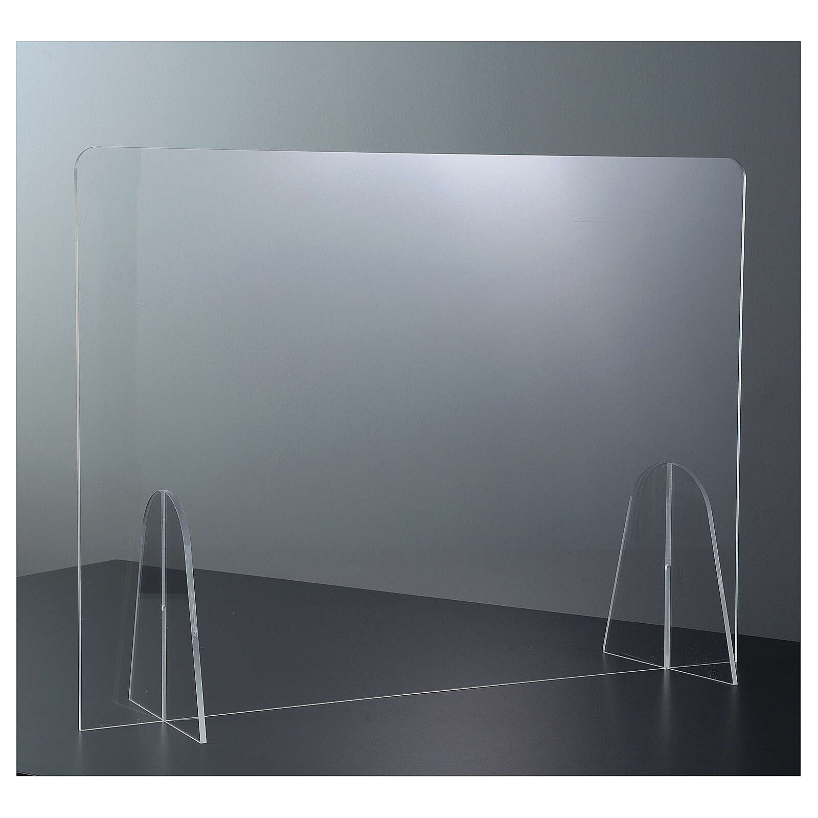 Table Barrier Plexiglass - Drop Design h 50x180 3