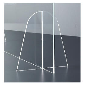 Barrera Plexiglás de Mesa - Design Gota h 50x180 s4