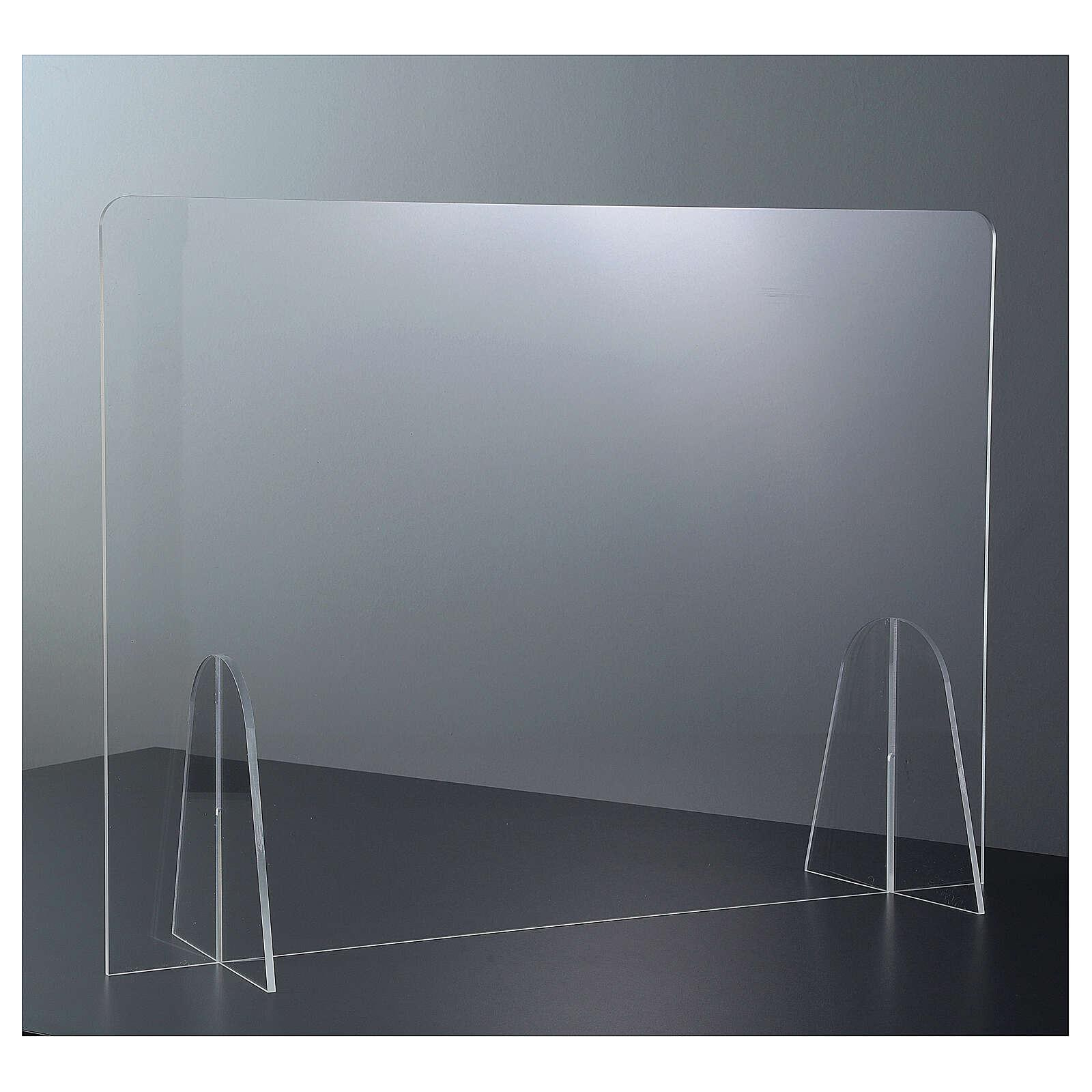 Barrière plexiglas pour table - design goutte h 50x180 cm 3