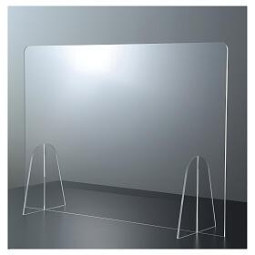 Barrière plexiglas pour table - design goutte h 50x180 cm s1