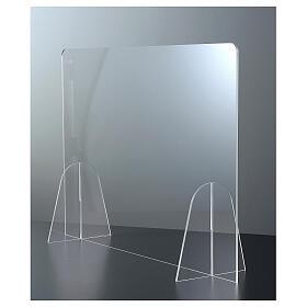 Barrière plexiglas pour table - design goutte h 50x180 cm s3
