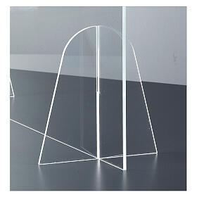 Barrière plexiglas pour table - design goutte h 50x180 cm s4