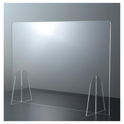 Barrière plexiglas pour table - design goutte h 50x180 cm 1