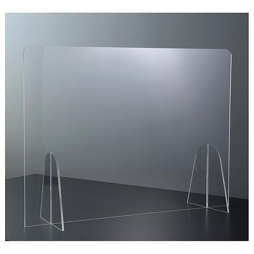 Barrière plexiglas pour table - design goutte h 50x180 cm 2