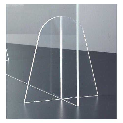 Barrière plexiglas pour table - design goutte h 50x180 cm 4