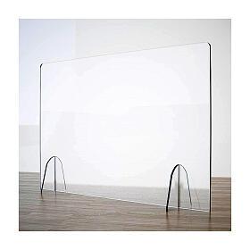 Barreira de proteção anti-contágio de mesa Design Gota acrílico 50x180 cm s1