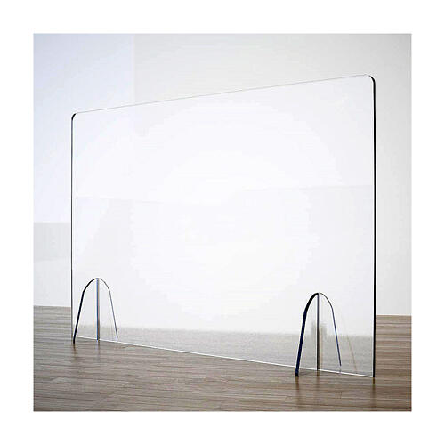 Barreira de proteção anti-contágio de mesa Design Gota acrílico 50x180 cm 1