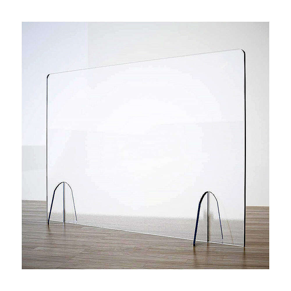 Plexiglass barrier shield- Goccia Design h 50x180 cm 3