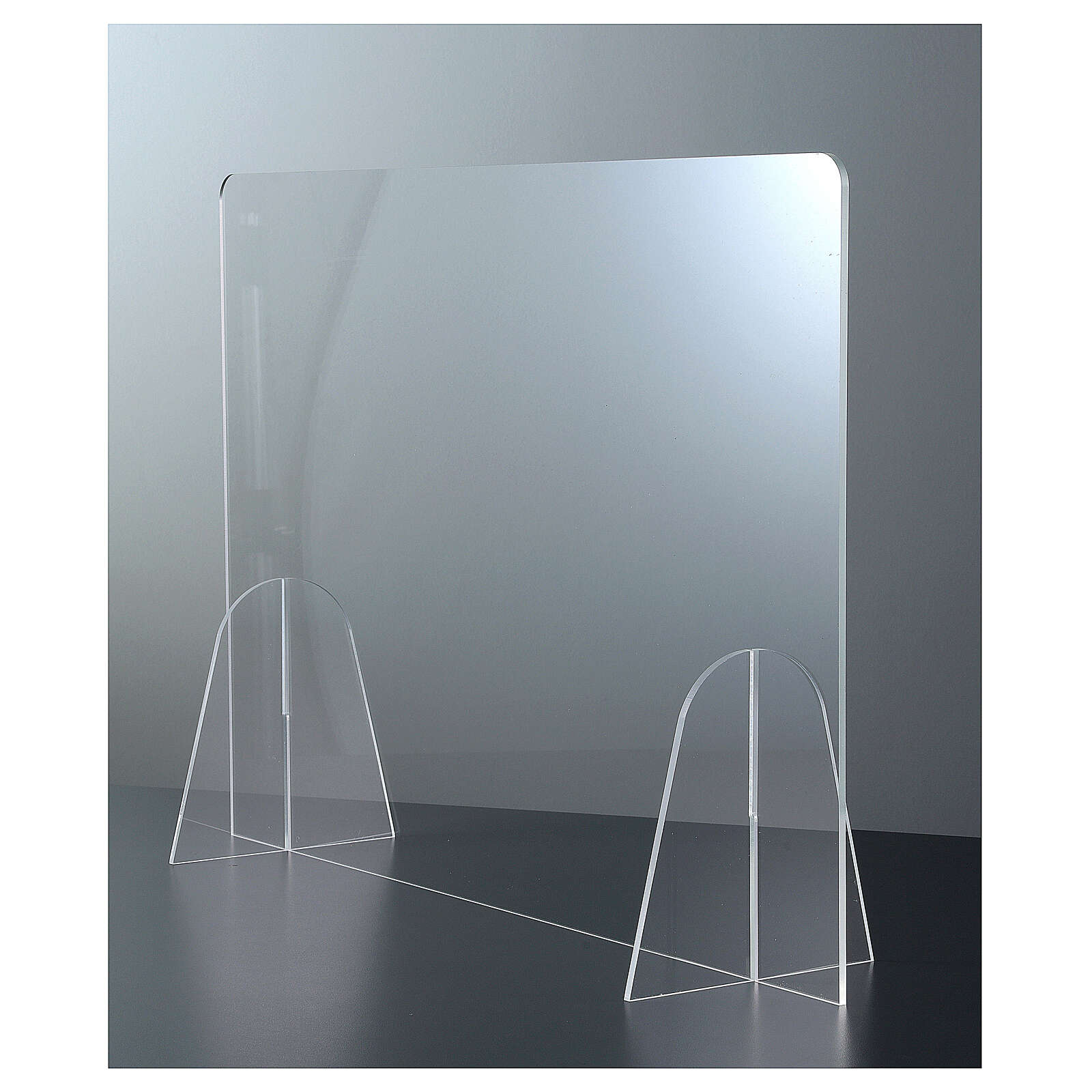 Plexiglass barrier shield- Goccia Design h 50x180 cm 3