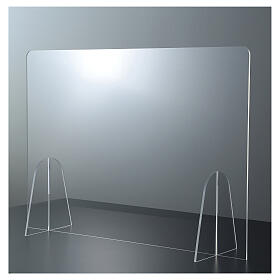 Plexiglass barrier shield- Goccia Design h 50x180 cm s1