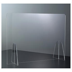 Plexiglass barrier shield- Goccia Design h 50x180 cm s2