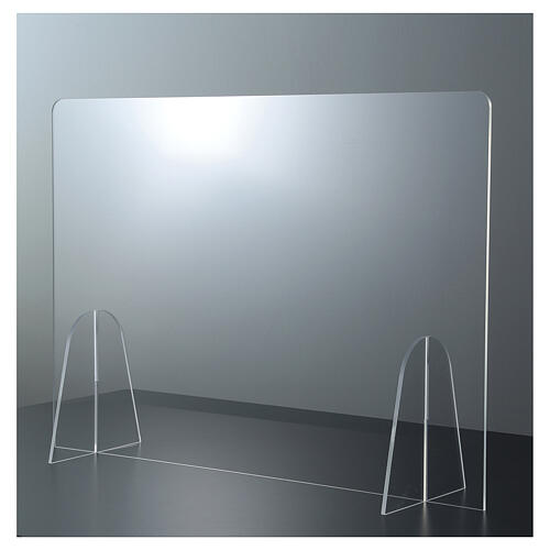 Plexiglass barrier shield- Goccia Design h 50x180 cm 1